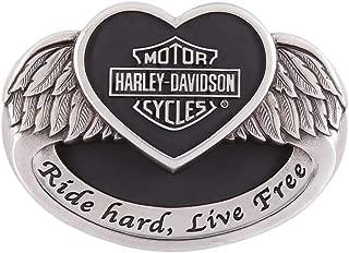 Women's Angel Heart Belt Buckle, Polished Silver HDWBU11502