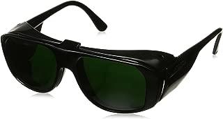 Uvex S213 Horizon Safety Eyewear, Black Frame, Clear Hardcoat Lens with Flip-Up Shade 5.0 Hardcoat Lens