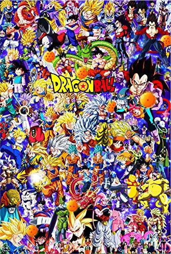 199Tdfc Kit de pintura por números, kit de manualidades de pintura por números, anime Dragon Ball personajes Daquan, 61 x 40 cm, pintura al óleo sobre lienzo, juego de pintura para niños