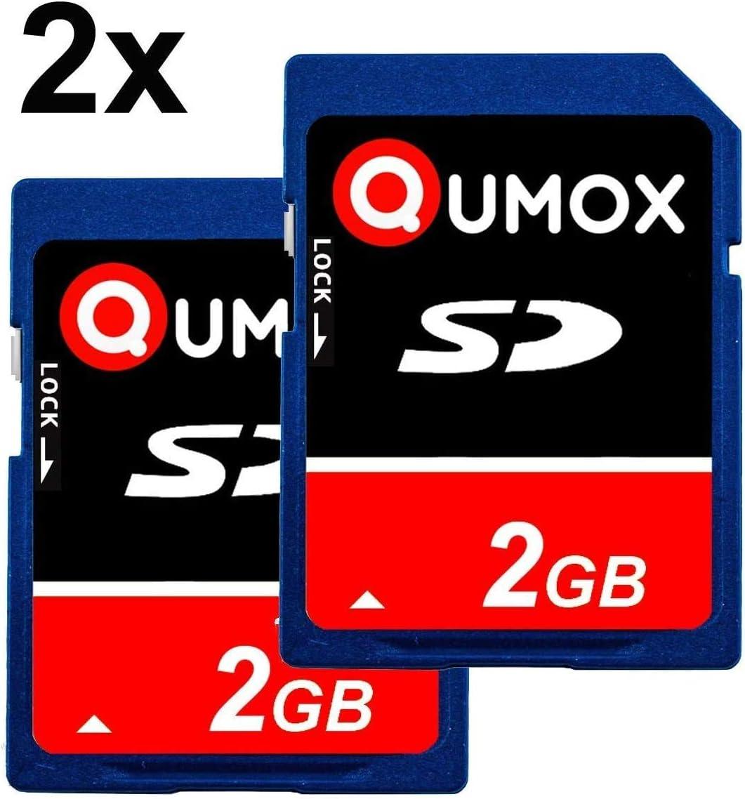 QUMOX 2X 2GB 2048MB SD Memory Card for Camera Phone mp3 mp4 fm Transmitter