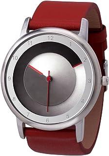 Avantgardia - Reloj de pulsera, unisex, con caja de acero inoxidable, negro