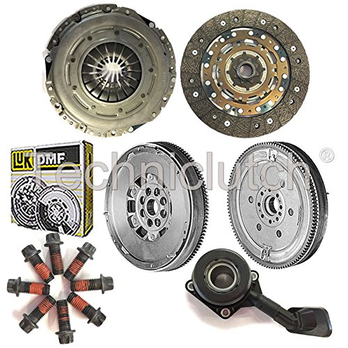NATIONWIDE CLUTCH DISC DRIVEN PLATE AND PRESSURE PLATE AND LUK DUAL MASS FLYWHEEL AND CSC (4 PART KIT WITH BOLTS) 8944780121239