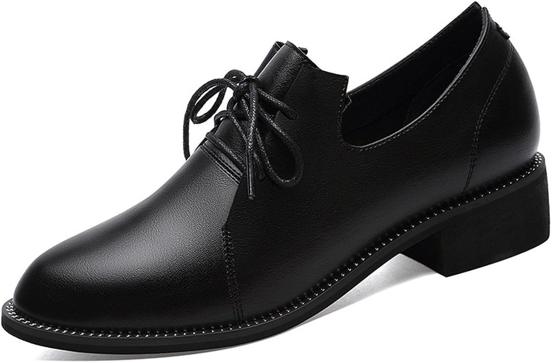 Hoxekle kvinnor point Toes Comfortable Comfortable Comfortable Western Style skor  Perforöd  Vintage Oxford skor Low Heel  online outlet försäljning