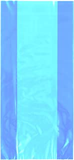 Unique Party Cello Treat Bags with Ties (Pack of 30) (UK Size: One Size) (Baby Blue)