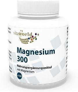 Magnesio 300mg 150 Comprimidos - Vita World Producción