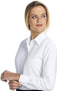 Women's Button-Down Shirt Long Sleeve Regular Fit Point...