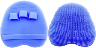 Soft Silicone Shower Brush, Body & Face & Short Hair Wash, Bath Exfoliating Skin..