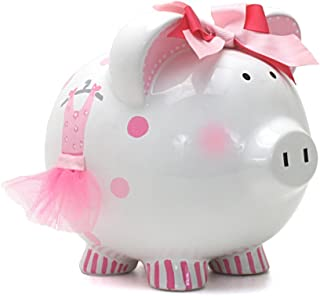 Child to Cherish Ceramic Piggy Bank for Girls, Ava's Tutu