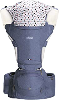 Bebamour Multifunction Baby Carrier Hip Seat 6-in-1 Ways to Carry All Seasons Adjustable Size Perfect for Hiking Shopping ...