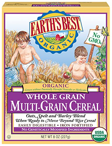 Earth's Best Organic Infant Cereal, Whole Multi-Grain, 8 Oz. Box (Pack of 12)