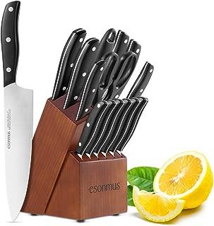 Best kitchen knife set block Reviews