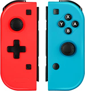 Linkstyle Upgraded Joypad Grip Controller Compatible with Nintendo Switch, NS Red(L) Blue(R) Wireless Switch Plug and Play