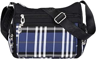 VVVSO Mens Multi Pocket Shoulder Bags Briefcases Durable Nylon Crossbody Bags Black