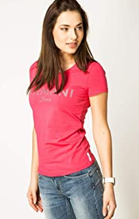 Armani Jeans Pink Round Neck T-Shirt For Women