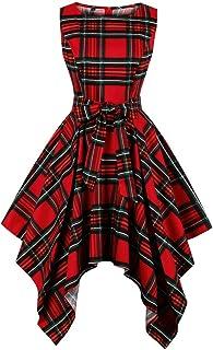 Wellwits - Vestito asimmetrico asimmetrico da donna, con stampa africana, stile Dashiki