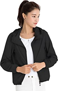 CHERRY CHICK Quick Dry, Water-Resistant, Ultralight, Women's Packable Summer Jacket with Hood (Perfect for Travelling)