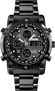 1389 Quartz Man Watch Unique Fashion Sport Casual Brand Quartz Clock Double Movement Stainless Steel Strap Waterproof Wris...