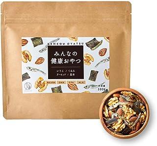 ナチュレライフ みんなの健康おやつ ミックスナッツ 100g おつまみ カルシウム DHA 小魚 アーモンド くるみ いりこ 昆布 子ども (1袋)