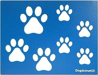Dogdotnet Second Dog Cat Paw Print Stencils Sheet Template, Three Paw Print Sizes, 3