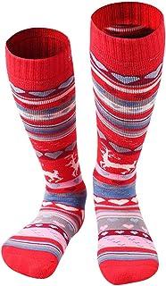 Calcetines de Esquí para Niñas Niños Invierno Térmico Largo Acolchado