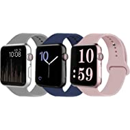 VATI Sport Band Compatible for Apple Watch Band 38mm 40mm 42mm 44mm, Soft Silicone Sport Strap...