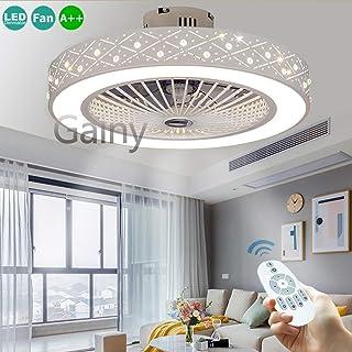 Ventilador De Techo 36W LED Lámpara Creative Regulable Ventilador De Techo Invisible Lámpara Luz De Techo Del Ventilador De Bajo Ruido Adecuado Para Sala De Estar Dormitorio Habitación Infantil