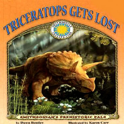 Triceratops Gets Lost audiobook cover art