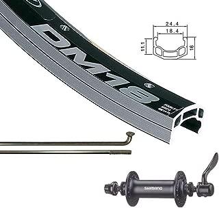 The Wheel Shop Front 26'' Wheel Alex DM-18 Black / HB-RM70 Black 36 Stainless Spokes- QR Axle