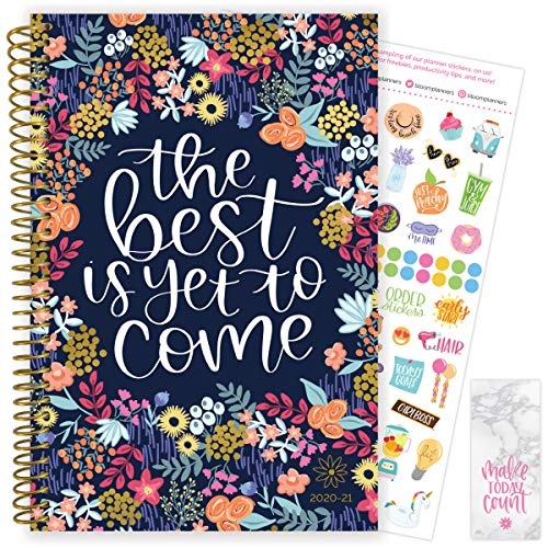 "bloom daily planners 2020-2021 Academic Year Day Planner & Calendar (July 2020 - July 2021) - 6"" x 8.25"" - Weekly/Monthly Agenda Organizer with Stickers and Bookmark - The Best is Yet to Come"
