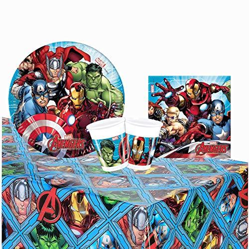 NADA HOME Kit Party Marvel Avengers 24 Persone Bicchieri Piatti tovaglia tovaglioli 1395