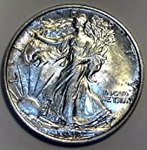 1943 P Silver Walking Liberty WWII Era Beautiful Half Dollar AU-58