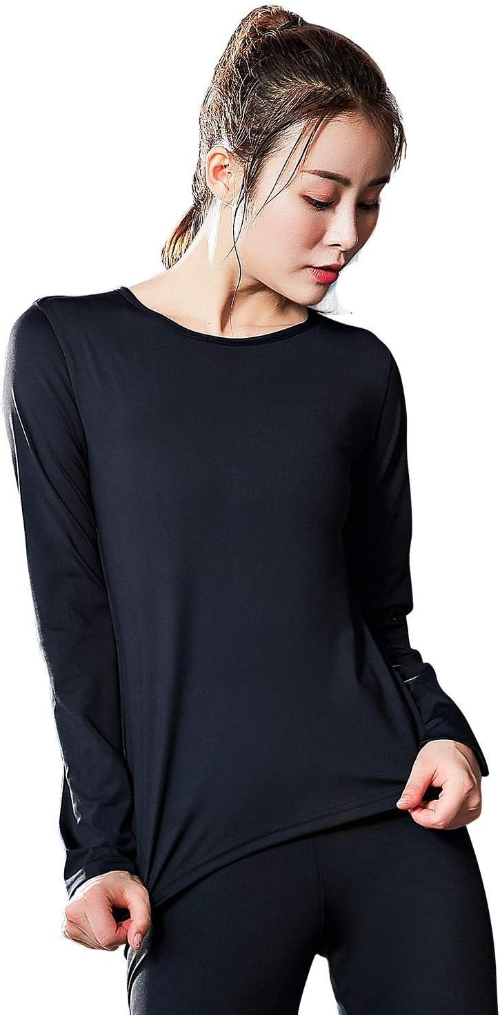 JOMLUN Womens Hot Thermo Body Shaper T Shirt Slimming Bodysuit W