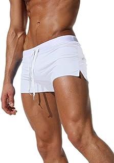 4f8ed6216617 Tomsent 2017 Uomo Costume da Bagno Elastico Vita Bassa Slim per Nuoto  Spiaggia Mare Piscina Sport