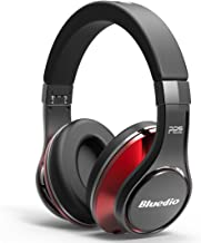Bluedio U (UFO) PPS 8 Drivers High-End Bluetooth headphones Revolution/3D Sound Effect/Aluminum alloy build/Hi-Fi Rank wireless&wired Over-Ear headsets with carrying hard case Gift (Black and Red)