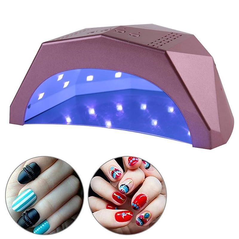 強制め言葉カビ24W/48W 切り替え可能ネイルドライヤー 30個LEDライト 自動センサー 3つのタイマー付き UV LED ネイルランプ(01)