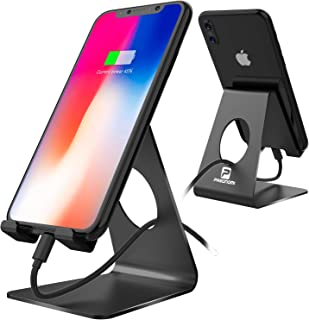 Cell Phone Stand, Pasonomi Phone Dock, Cradle, Holder Stand Compatible with iPhone X 8 7 Plus 6 5 SE iPad Galaxy Note 9 8 S9 Plus S8 Nintendo Switch, Fits All Smartphones and Tablets (Black)