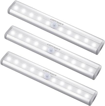 URPOWER Motion Sensor Light, 10 LED Bulbs Operated Wireless Motion Nightlight Portable Magnetic Security Closet Light Stick Up Motion Sensor Night Lights for Closets Hallway Stairway(3)
