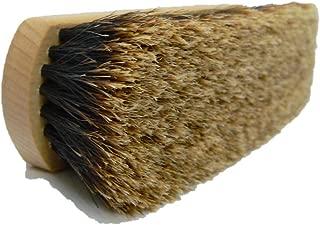 Valentino Garemi Luxury Leather Shoe Shine Polish Brush- Long Shaft Slotted Bristles- Genuine Horse Hair- Made in Germany
