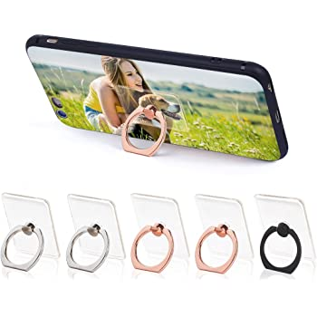 Cell Phone Finger Ring Stand Universal 360 Rotation Smartphone Phone Ring Holder Grip Stand Compatible iPhone X 8 7 6S Samsung Galaxy S8 S9 Plus,and Tablets Dark Blue /& Water Green Ribbon