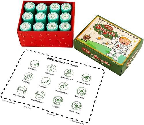 están haciendo actividades de descuento C.S. C.S. C.S. Kids EYFS - Juego de sellos (12 sellos)  deportes calientes