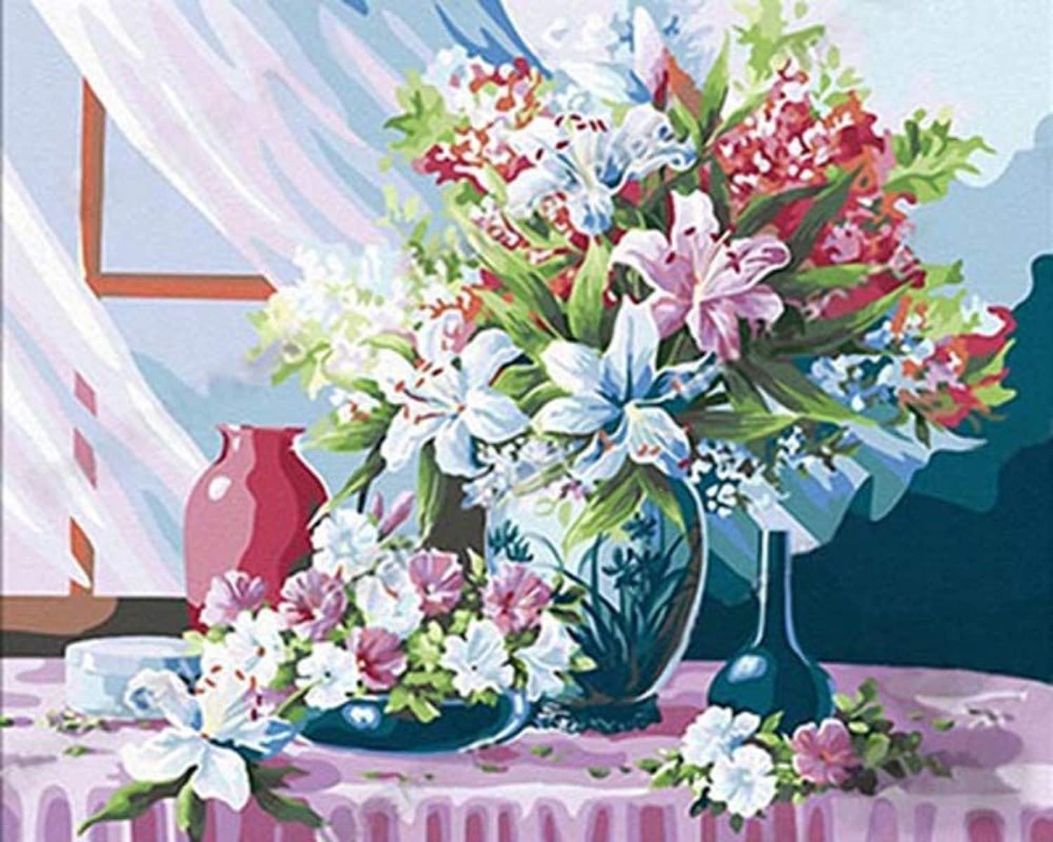 DIY Digital Painting Abstract Painting Living Room Decoration Painting Birthday Gift Decoration Painting Hand-Painted Plant Flowers Oil Painting Hand-Painted Paintings Christmas Frameless, 40x50cm
