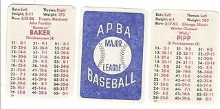 1919 APBA Season - NEW YORK YANKEES Team Set