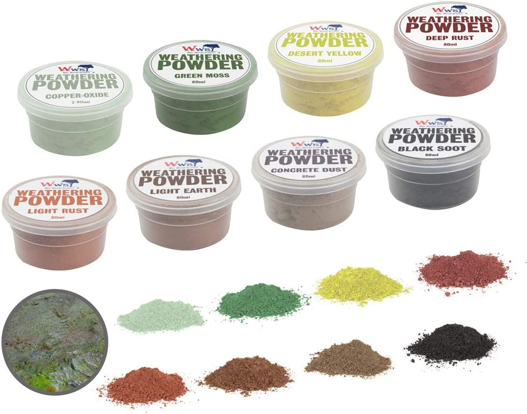 War World Scenics Full Set of 8 Powders Weathering Los Angeles Mall 80ml in Tubs Online limited product