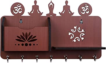 Sehaz Artworks Yoga Asanas-BR-KeyHolder Wooden Key Holder (7 Hooks)