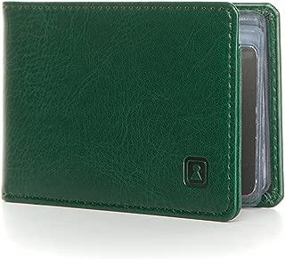 SecWal /Étui /à cartes en cuir avec porte-monnaie Fermeture /Éclair Marron Hunter