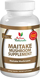 Maitake Mushroom Supplement - 120 Veg. Capsules with Grifola Frondosa Mushrooms