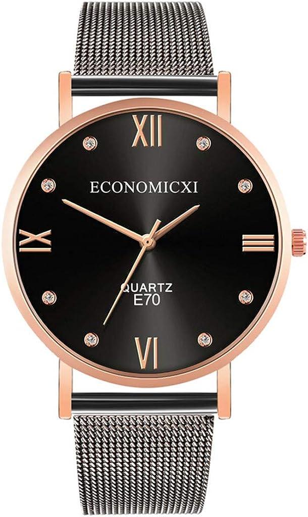 Moda Relojes Hombre Elegante Accesorio Mejor Regalo,Relojes De Pulsera De Cuarzo para Hombres Reloj De Correa De Malla De La Serie Casual Y Business 2020