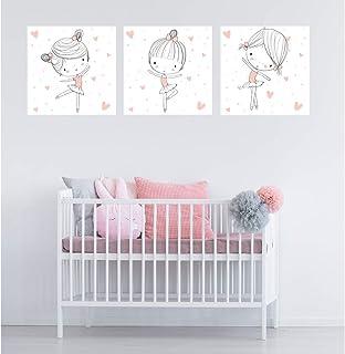 cuadros para bebes decoraci/ón habitaci/ón bebe Cuadros infantiles para habitacion ni/ño y ni/ña A4 Set 3 laminas infantiles para habitacion DANHOL