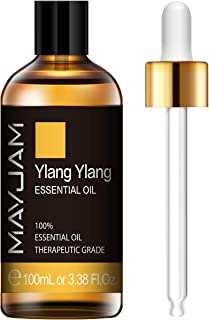 MAYJAM Ylang Ylang Essential Oil 100ML/3.38FL.OZ Premium Quality Essential Oils for Diffuser Aromatherapy Massage