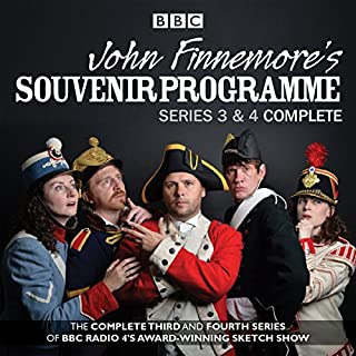 John Finnemore's Souvenir Programme     The Complete Series 3 & 4              By:                                                                                                                                 John Finnemore                               Narrated by:                                                                                                                                 a full cast,                                                                                        John Finnemore,                                                                                        Carrie Quinlan                      Length: 5 hrs and 35 mins     480 ratings     Overall 4.8